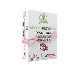 Modulo Prestashop Desactiva los productos por Stock de forma automatica
