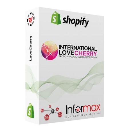 LoveCherry Integracion Catalogo para Shopify 1 año