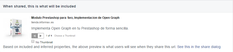 Open Graph Prestashop